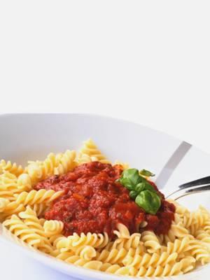 Pates et sauce tomate hyper protéinées
